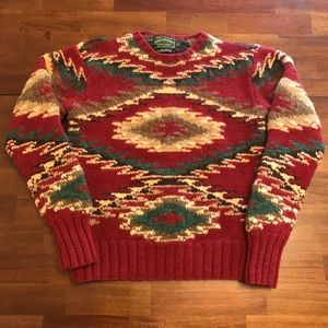 VTG Polo Country Ralph Lauren Knit Aztec Sweater